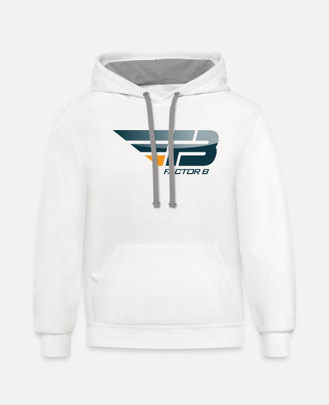 1 Hoodies & Sweatshirts - FBL Promo png - Unisex Two-Tone Hoodie white/gray