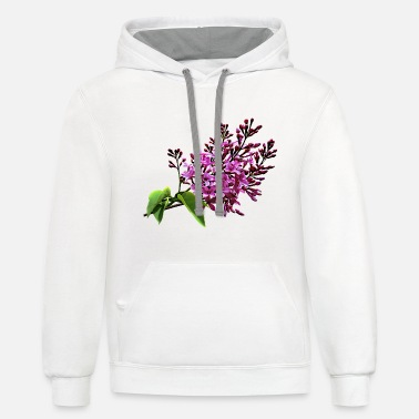 Lilac Lilacs Starting to Open - Unisex Two-Tone Hoodie