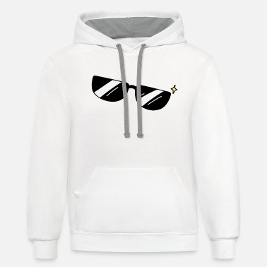 Sunglasses Sunglasses, black sunglasses - Unisex Two-Tone Hoodie