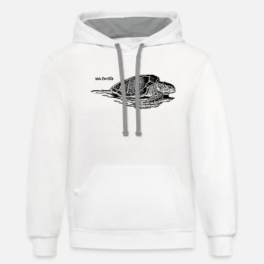 Sea sea turtle - Unisex Two-Tone Hoodie