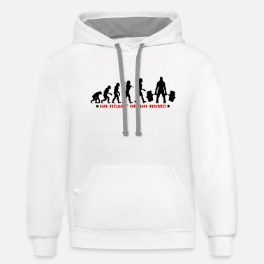GO HEAVY OR GO HOME GYM DEADLIFT MUSCLE EVOLUTION - Unisex Two-Tone Hoodie