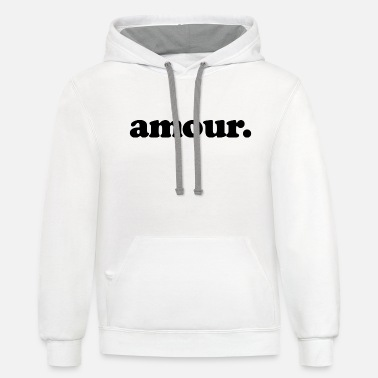 Amour Amour - Fun Design (Black Letters) - Unisex Two-Tone Hoodie