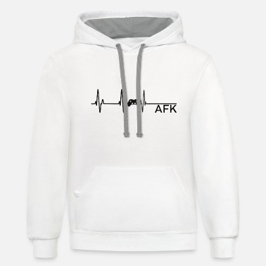 Going AFK is like dying - Unisex Two-Tone Hoodie