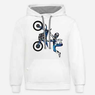 Toddler Yamaha Freestyle Motocross - Unisex Two-Tone Hoodie