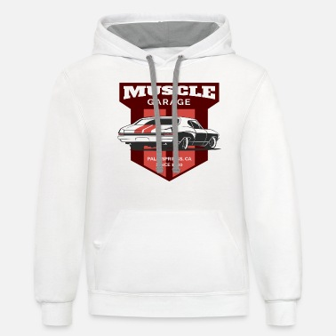 Muscle Car Garage Muscle Car - Unisex Two-Tone Hoodie