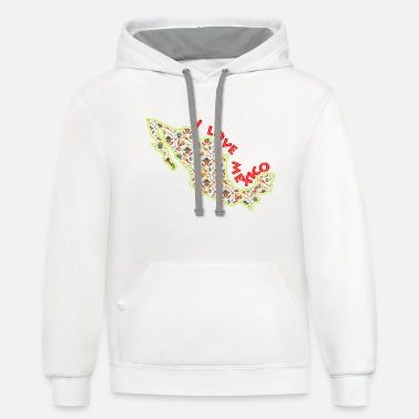 i love mexico I mexican - Unisex Two-Tone Hoodie