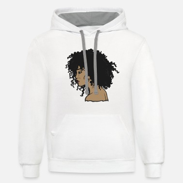 Hair My Afro - Natural Hair - Afrocentric Gift - Unisex Two-Tone Hoodie