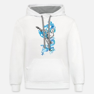Monk Shaolin Monk Dragon Gift Martial Arts Kung Fu - Unisex Two-Tone Hoodie