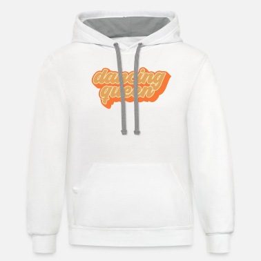 70s Clothing Groovy Dancing Queen Vintage 70s Dance Gift - Unisex Two-Tone Hoodie