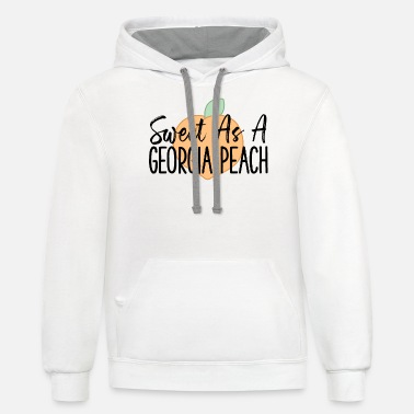 Sweet As A Georgia Peach Cute Funny Georgia Gift - Unisex Two-Tone Hoodie