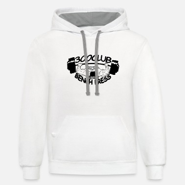 Bench Press 300 Club Bench Press - Unisex Two-Tone Hoodie