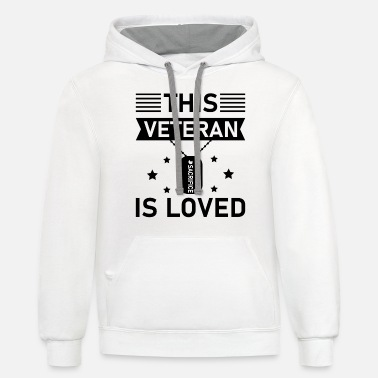 Airforce This Veteran is loved - Unisex Two-Tone Hoodie