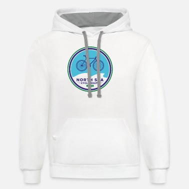 North Sea North Sea Cycle Route - Europe - Unisex Two-Tone Hoodie