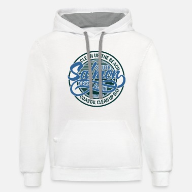 Clean Up Clean Up The Beach Day - Unisex Two-Tone Hoodie