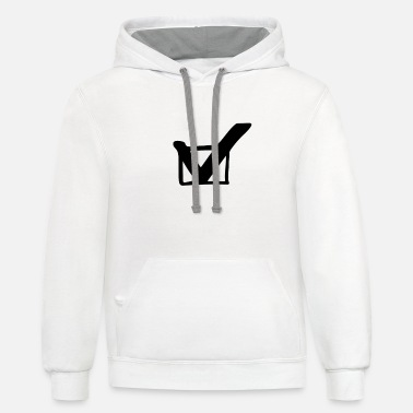 Check Mark check mark - Unisex Two-Tone Hoodie