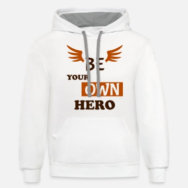 Latest Be the hero! - Unisex Two-Tone Hoodie