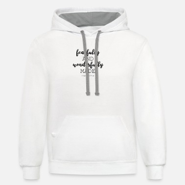Bible Bible Verse Fearfully Wonderfully Shirt Gift - Unisex Two-Tone Hoodie