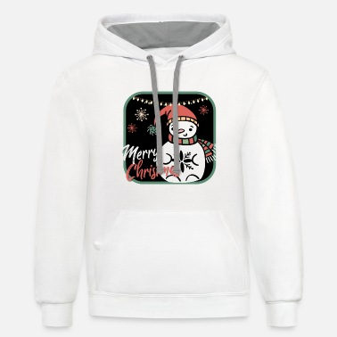Ugly Christmas! Snowman Merry Christmas! - Unisex Two-Tone Hoodie