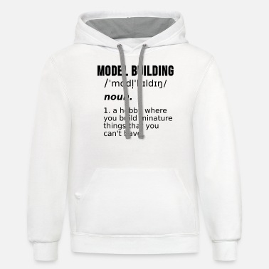Wife Model Building Maker Models Train Gift - Unisex Two-Tone Hoodie