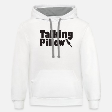 Pillow Talking Pillow - Unisex Two-Tone Hoodie