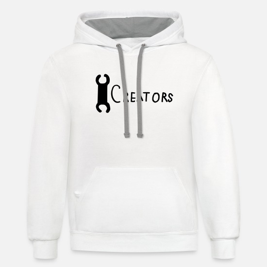 Heat Hoodies & Sweatshirts - Creators drop.1 - Unisex Two-Tone Hoodie white/gray