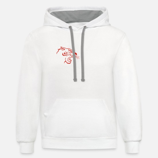 Tiger Shark Hoodies & Sweatshirts - double roar tiger - Unisex Two-Tone Hoodie white/gray