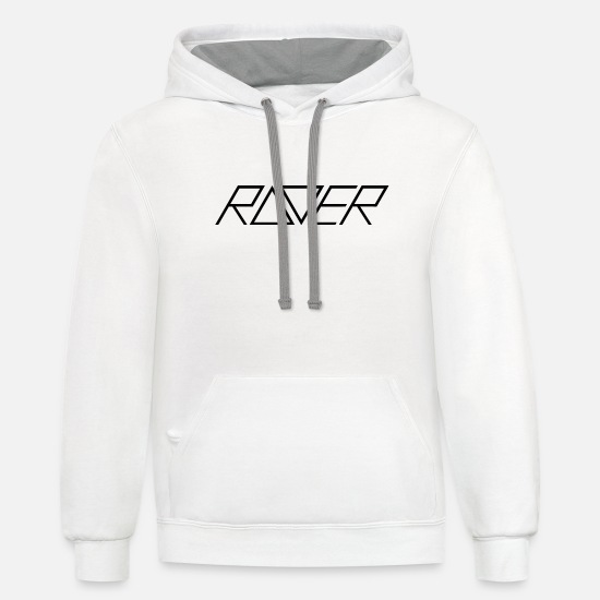 Hardstyle Hoodies & Sweatshirts - Raver Techno - Unisex Two-Tone Hoodie white/gray