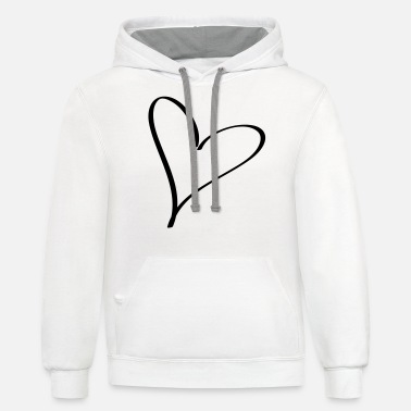 Affeto heart - Unisex Two-Tone Hoodie
