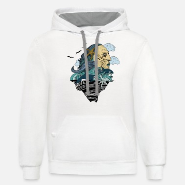 Sign Of Zodiac Zodiac Aquarius - Unisex Two-Tone Hoodie