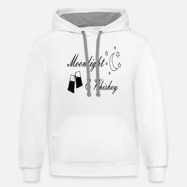 Moonlight Moonlight and Whiskey - Unisex Two-Tone Hoodie