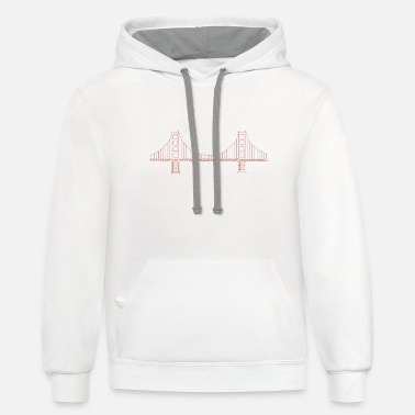 San Francisco California City By The Bay West Coast Pride 2-tone Hoodie Pullover