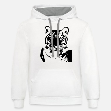 Plus Tiger Plus Size - Unisex Two-Tone Hoodie
