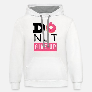 Do nut give up - Unisex Two-Tone Hoodie