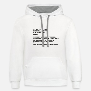 Engineer Electrical Engineer Dictionary - Unisex Two-Tone Hoodie
