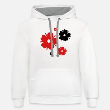 Festival five cherry blossoms - Unisex Two-Tone Hoodie