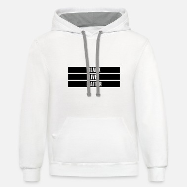 Demo Black Lives Matter - Unisex Two-Tone Hoodie