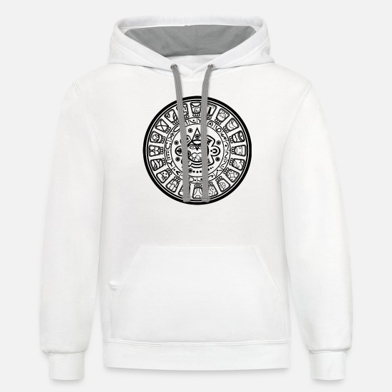 Maya Hoodies & Sweatshirts - calendar - Unisex Two-Tone Hoodie white/gray