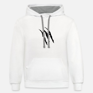 Mark Something Claw Marks - Unisex Two-Tone Hoodie