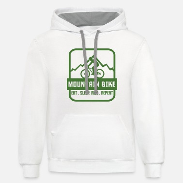 Bike MOUNTAIN BIKE - Unisex Two-Tone Hoodie