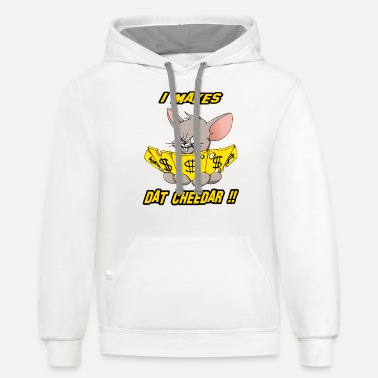 Cash Mouse Cheese Money 2 - Unisex Two-Tone Hoodie