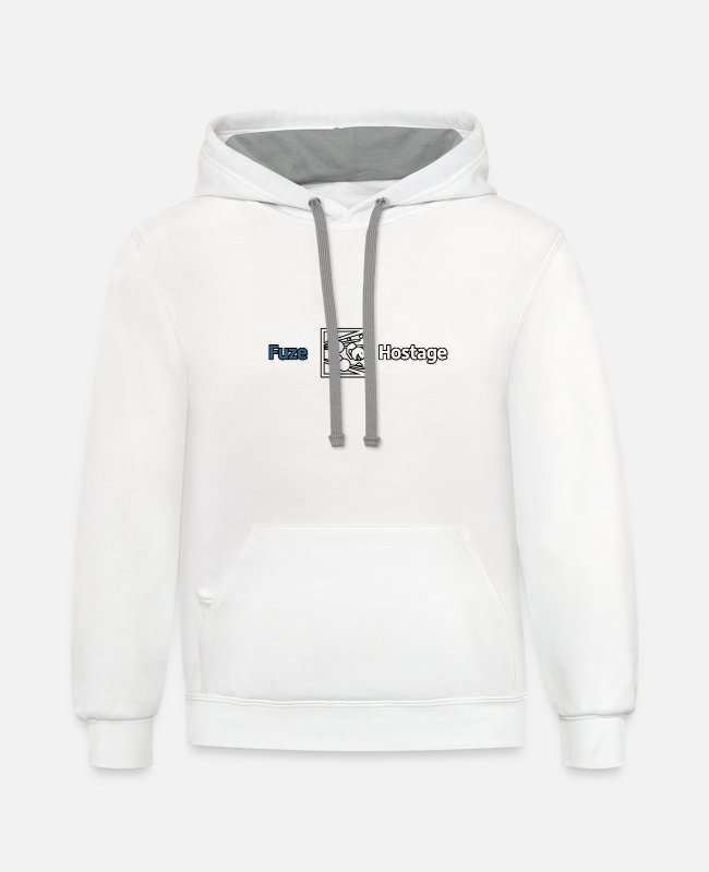 Fuse Hoodies & Sweatshirts - Don t Fuze the Hostage - Unisex Two-Tone Hoodie white/gray