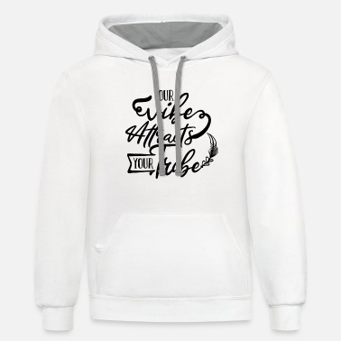 Embracement Your Vibe Attracts Your Tribe Cute Positive Quote - Unisex Two-Tone Hoodie
