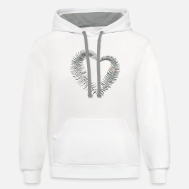 FERN HEART LADIES MUSCLE gym t shirts - Unisex Two-Tone Hoodie