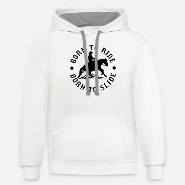 Western Riding Born To Ride - Unisex Two-Tone Hoodie