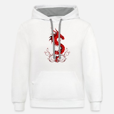 Red Dragon Wonderful red chinese dragon - Unisex Two-Tone Hoodie