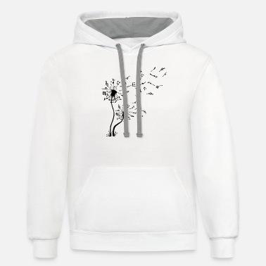 Dandelion Music Note Mens Hoodie Hooded Sweatshirt