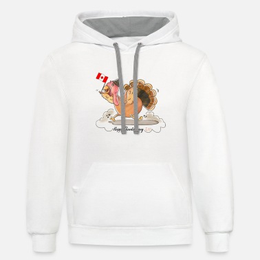Funny Thanksgiving Canadian Turkey Canada Eh - Unisex Two-Tone Hoodie