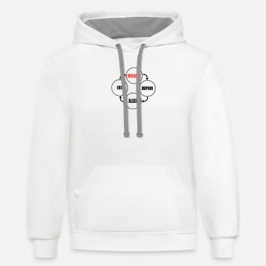 Reenact - Repair Sleep Eat Reeanctors Life Circle - Unisex Two-Tone Hoodie