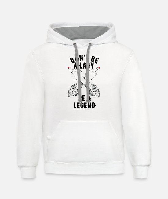 March Girls Hoodies & Sweatshirts - Feminist gift, women power, Feminist clothing - Unisex Two-Tone Hoodie white/gray