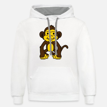 Congo monkey,monkeys,monster - Unisex Two-Tone Hoodie